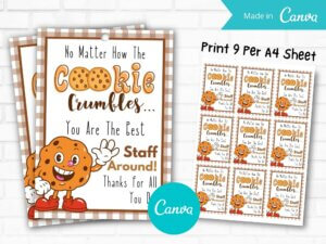 Cookie Crumbles Gift Tag Print...