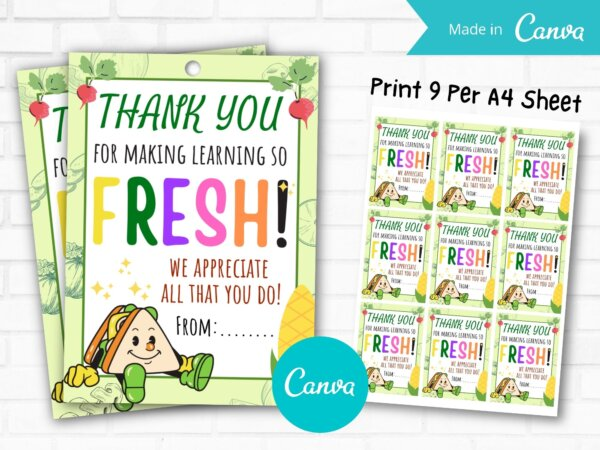 Thank You Gift Tags, Teacher Employee Bus Driver Nurse Staff Appreciation Week, thank you for all you do , School Editable Template