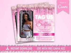 tag us in selfies flyer