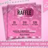 pink instagram raffle flyer