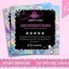holographic client review flyer