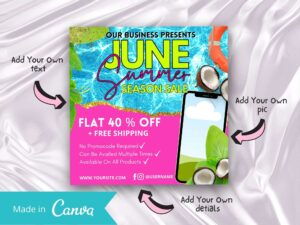 Pink Summer Sale Instagram Fly...