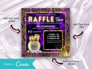 Royal Purple Raffle Giveaway Instagram Flyer, Canva