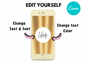 DIY Gold Plated Instagram Story Highlight Icons, Canva Highlights