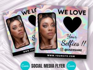 Holographic We Love Selfies In...