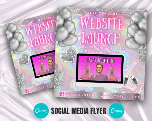 website launch flyer