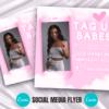 baby pink tag us in selfies instagram flyer