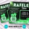 green raffle giveaway instagram flyer