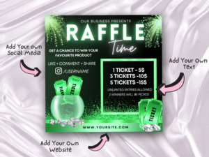 Green Raffle Giveaway Instagra...