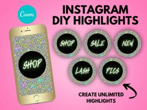 DIY Multi Color Glitter Instagram S...