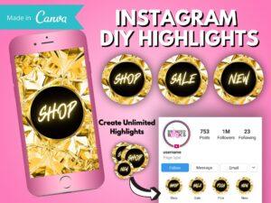 DIY Gold Diamond Instagram Story Hi...