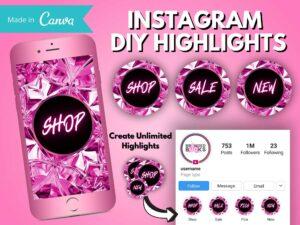 DIY Hot Pink Diamond Instagram Stor...