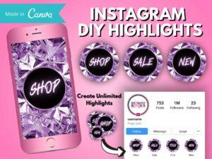 DIY Purple Diamond Instagram S...