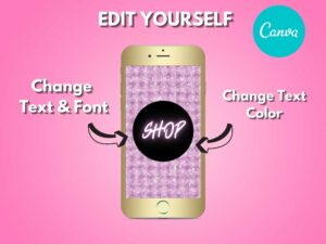 DIY Pink Texture Instagram Story Hi...