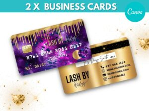 Purple Gold Credit Card Styled Busi...