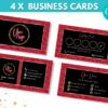 red gold business card template