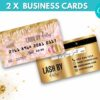 4 Baby Pink Gold Credit Card Styled Business Card Template, thankyou card, tag us in selfies cards, Gift card template, hair price list template