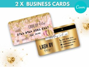 Baby Pink Gold Credit Card Styled B...