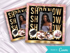 shop now flyer, lash flyer, boutique flyer, hair bundle flyer
