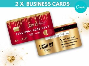 Red Gold Credit Card Styled Busines...