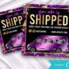 purple order shipped instagram flyer