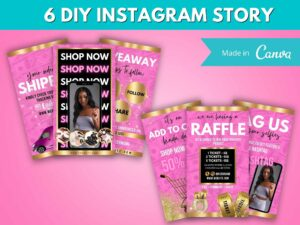 DIY Hot Pink Gold Instagram Story T...