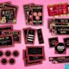 red gold branding kit