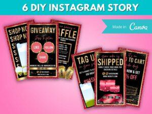 DIY Red Gold Instagram Story T...