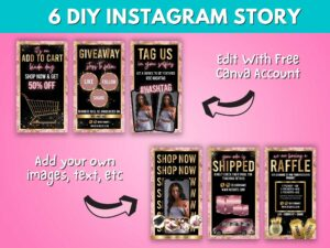 DIY Baby Pink Gold Instagram Story ...