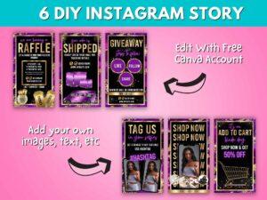 DIY Purple Gold Instagram Stor...