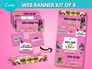 hot pink web banner kit