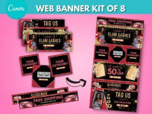 red gold web banner kit