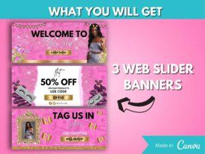 DIY Hot Pink Gold Web Banner Kit Of...