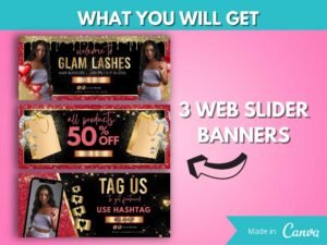 DIY Red Gold Web Banner Kit Of...