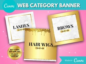 Gold Marble Web Category Banne...
