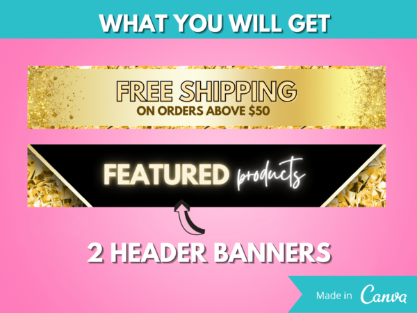 gold web banner kit