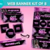 purple web banners
