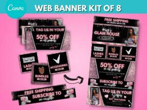 DIY Rose Gold Web Banner Kit O...
