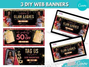3 Red Gold Web Slider Banner K...
