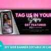 tag us in selfies web banner