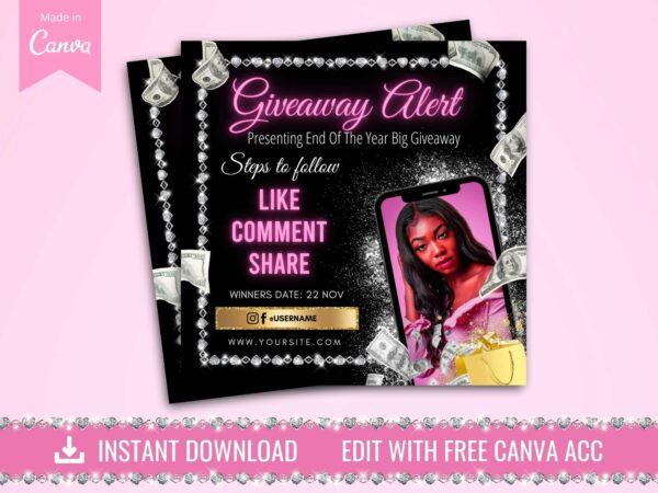 giveaway instagram flyer
