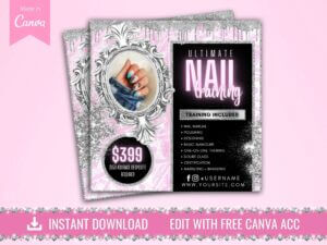 Nails Training Classes Flyer, ...
