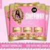 gold giveaway flyer template