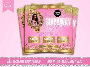 Giveaway Alert Instagram Flyer, Pin...