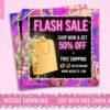 flash sale instagram flyer