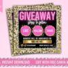 leopard style pink giveaway instagram flyer