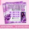 purple giveaway flyer template