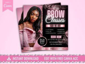 brow training class flyer