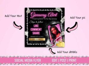 Pink Giveaway Alert Instagram ...