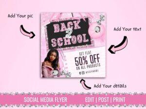 Back To School Sale Instagram Flyer...